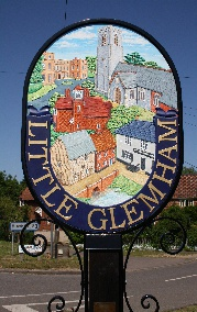Our Village Sign, made by a local girl, Rachel Hebbs as part of her Design Technology A-level and donated to the village in 1986 and re-designed by David Wright in 2016